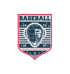 baseball minor league competition vintage label vector image vector image