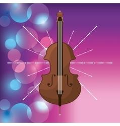 Cello icon music and sound design graphic vector