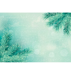 Christmas retro background with christmas tree vector image