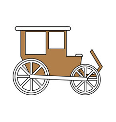 Color silhouette image wedding carriage without vector