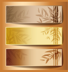 Colorful banners with the tree branches vector