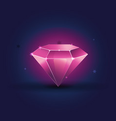 Colorful shiny bright crystals ruby diamond vector