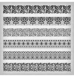 Decorative vintage borders vector image vector image