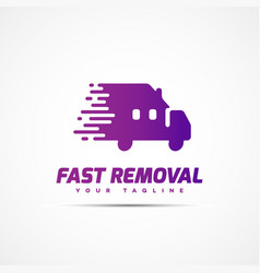 fast removal logo vector image