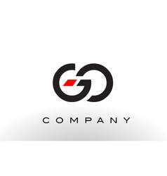 Go logo letter design vector