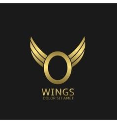 Golden o letter logo vector