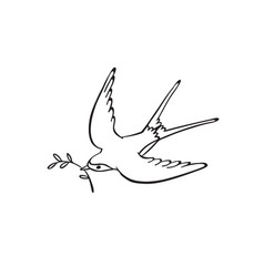 Hand drawn bird vector