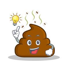 Have an idea poop emoticon character cartoon vector