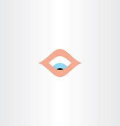Human eye looking down icon vector