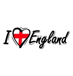I love england vector