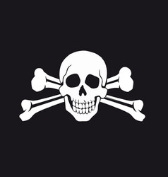 jolly roger flag vector image vector image
