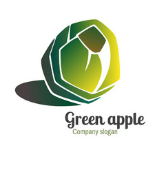 Logo with green apple vector