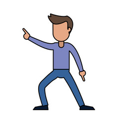 Male cheerful dancing image vector