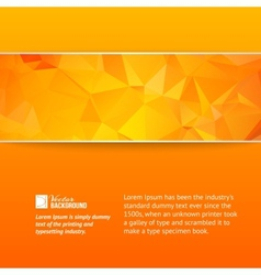 Orange triangle banner vector