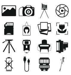 Photography set icons vector