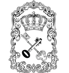 royal frame crown vector image vector image