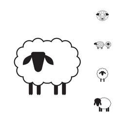 Sheep or ram icon logo template pictogram vector