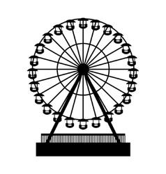Silhouette Park Atraktsion Ferris Wheel vector image vector image