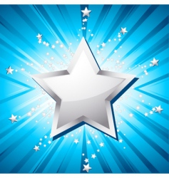 silver festive star vector image
