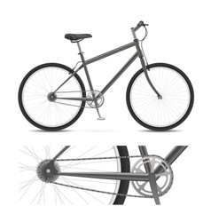 simple bike vector image
