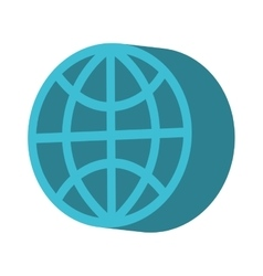 sphere circle emblem icon vector image