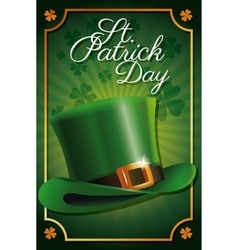 st patrick day leprechaun hat celebration vector image
