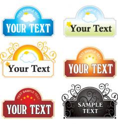 text vector image vector image