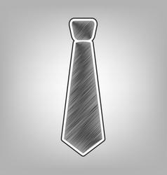 tie sign pencil sketch vector image vector image
