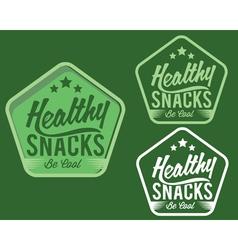 vintage emblem healthy snaks vector image
