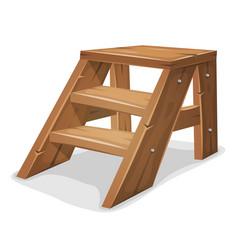 Wood footboard vector