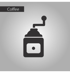 Black and white style coffee grinder vector