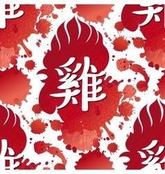 Rooster head pattern vector image