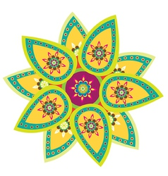 Indian style artwork vector image