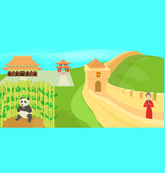 china landscape concept cartoon style vector image