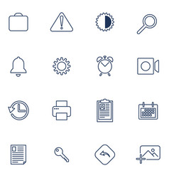 Set of 16 icons for app sites software vector