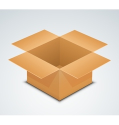 Open box recycle brown paper box packaging vector