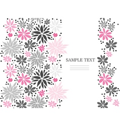 Cute pink seamless floral background vector