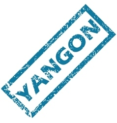 Yangon rubber stamp vector