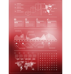 Flat style infographics and design elements for vector