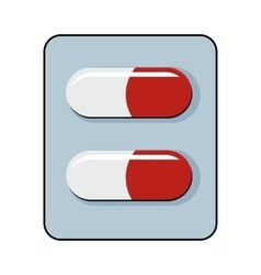 Pills cartoon icon isolated on white background vector