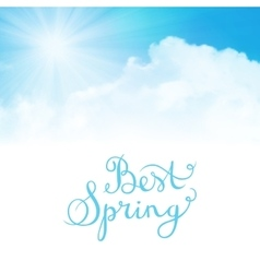 best spring vector image