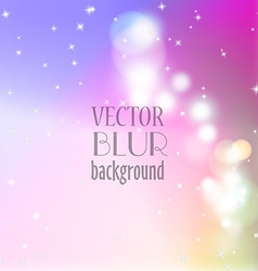 Abstract blur bokeh bright color background vector image vector image
