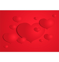 Abstract paper heart background vector image vector image