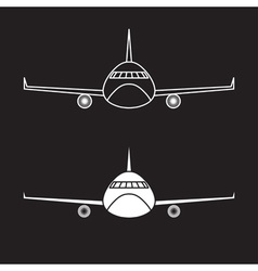 airplane design template vector image vector image