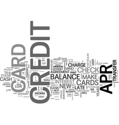 Apr credit cards a way to eliminate debt text vector