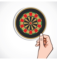 Archery board in hand vector