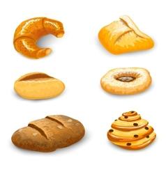 Bakery set isolated vector