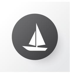 Boat icon symbol premium quality isolated ship vector