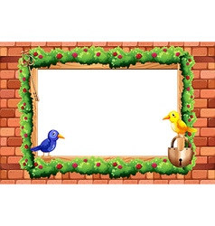 Border and birds vector image