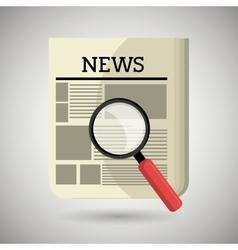 breaking news design vector image vector image
